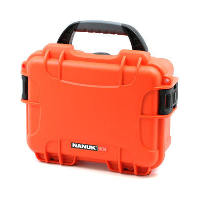Nanuk 904 Case orange mit Schaumstoff